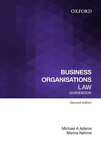 Business Organisations Law Guidebook: Michael A. Adams