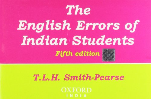 9780195600995: English Errors of Indian Students