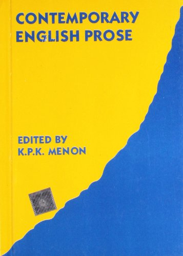 Contemporary English Prose: Menon, K P