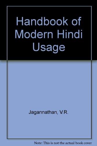 9780195611847: Handbook of Modern Hindi Usage: Prayoga Aur Prayoga