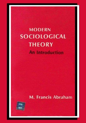 9780195613841: Modern Sociological Theory: An Introduction