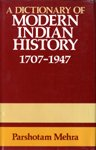 9780195615524: A Dictionary of Modern Indian History 1707-1947
