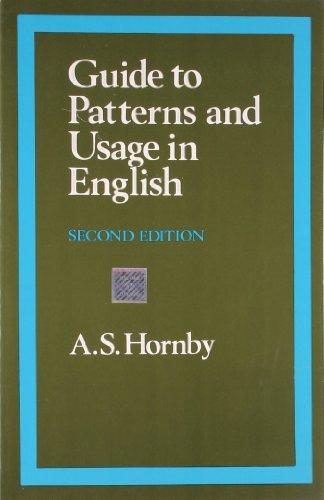 9780195622720: GUIDE TO PATTERNS & USAGE ENG [Paperback] [Jan 01, 1997] HORNBY