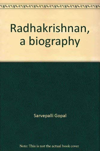 9780195623512: Radhakrishnan, a biography