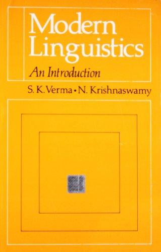 9780195623710: Modern Linguistics. An Introduction