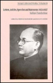 9780195635607: Netaji: Collected Works: Volume 8: Letters, Articles, Speeches and Statements 1933-1937 (Netaji : Collected Works, Vol 8)