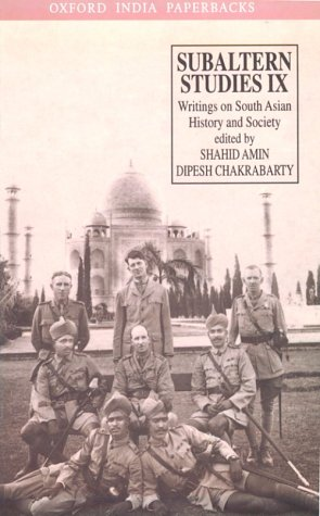 9780195643343: Subaltern Studies: Writings on South Asian History and Society, Vol. 9