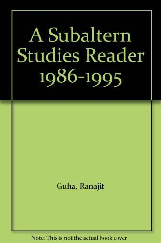 9780195644357: A Subaltern Studies Reader 1986-1995