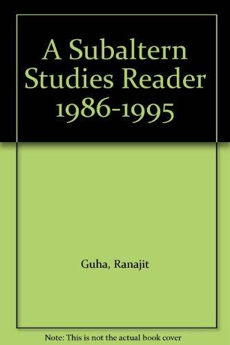 9780195644357: A Subaltern Studies Reader 1986-1995
