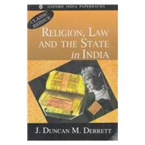 9780195647938: Religion, Law and the State in India