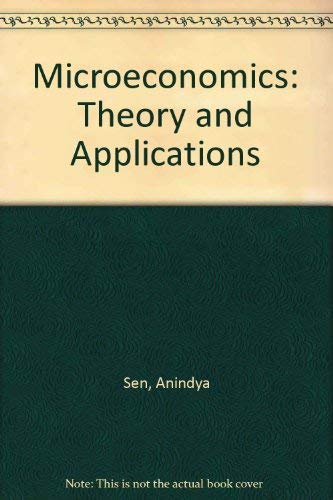 9780195648065: Microeconomics: Theory and Applications