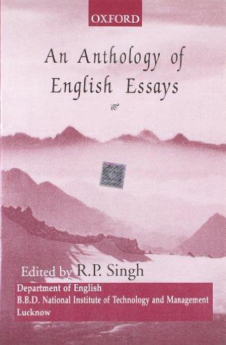 AN ANTHOLOGY OF ENGLISH ESSAYS: SINGH R. P.