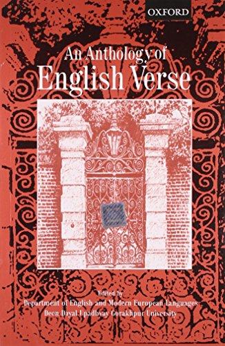 9780195662115: An Anthology Of English Verse