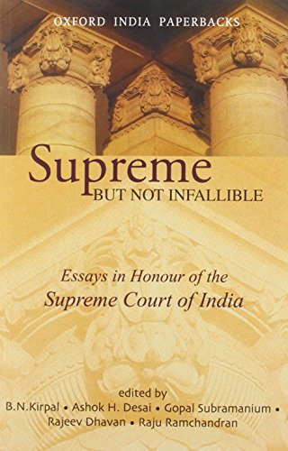 9780195672268: Supreme But Not Infallible: Essays in Honour of the Supreme Court of India