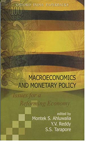9780195672312: Macroeconomics and Monetary Policy: Issues for a Reforming Economy (Oxford India Paperbacks)