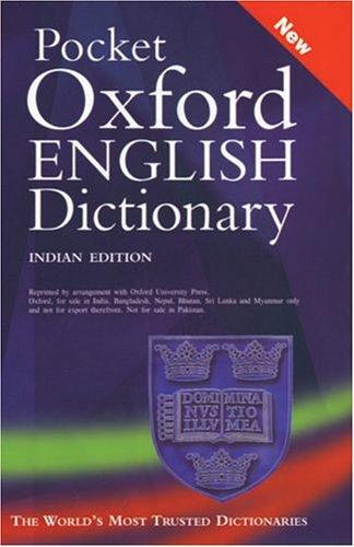 9780195677256: Pocket Oxford English Dictionary