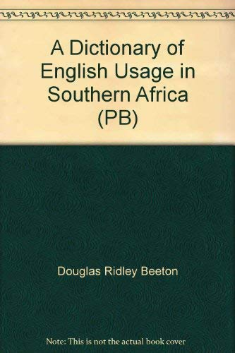 Dictionary English Usage in Southern Africa