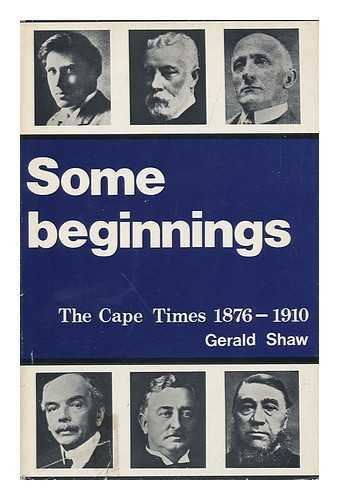 Some Beginnings: The Cape Times (1876-1910)