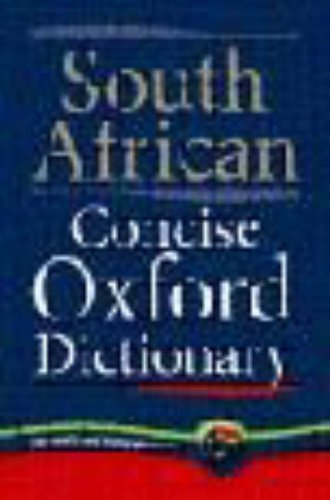 9780195718041: South African Concise Oxford Dictionary