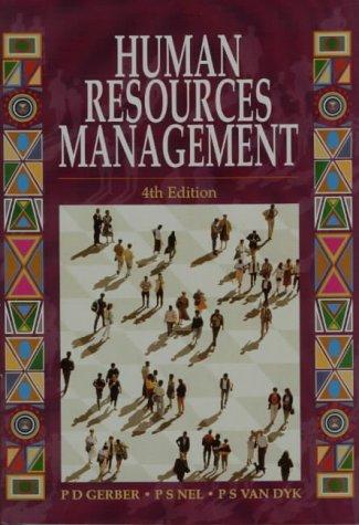 Human Resources Management: Gerber, P.