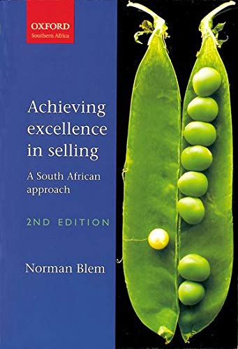 9780195719185: Achieving Excellence in Selling