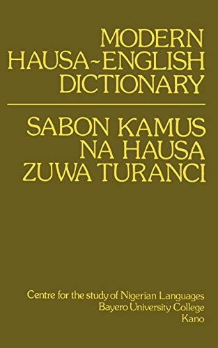 9780195753035: Modern Hausa-English Dictionary