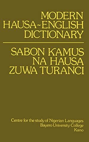 9780195753035: Modern Hausa-English Dictionary