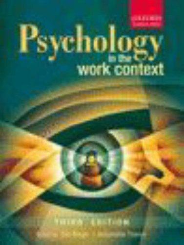 Psychology in the Work Context: Bergh, Ziel C.