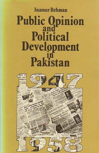PUBLIC OPINION AND POLITICAL DEVELOPMENT IN PAKISTAN: REHMAN, Inamur.
