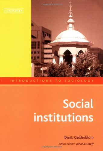 9780195780765: Social Institutions (Introductions to Sociology)