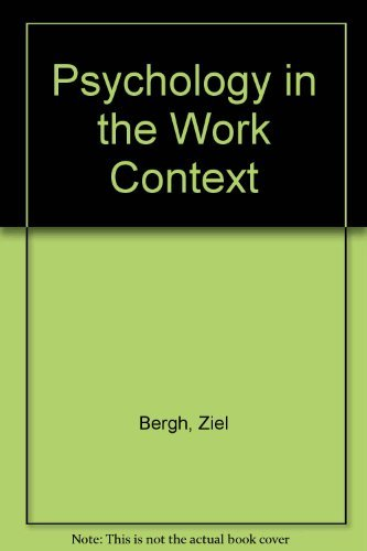 Psychology in the Work Context: Bergh, Ziel and
