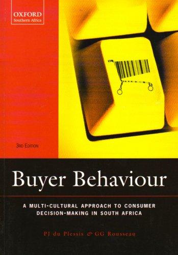 9780195784312: Buyer Behaviour: A Multi-cultural Approach
