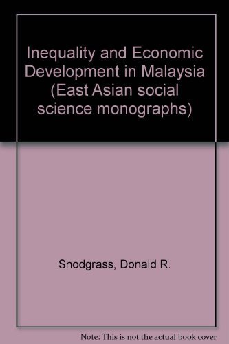 9780195804317: Inequality and Economic Development in Malaysia (East Asian Social Science Monographs)