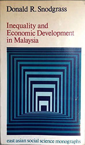 9780195804423: Inequality and Economic Development in Malaysia (East Asian Social Science Monographs)