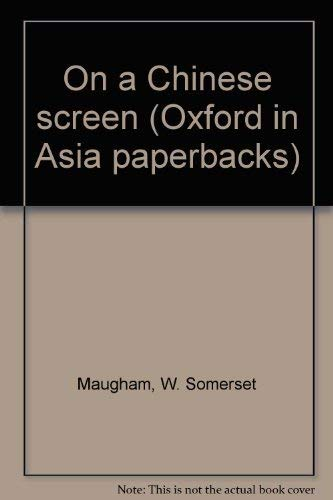 9780195837858: On a Chinese screen (Oxford in Asia paperbacks)