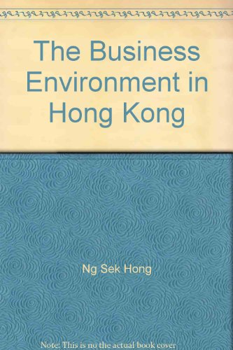 9780195865332: The Business Environment in Hong Kong