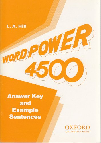 9780195891041: Vocabulary Tests and Exercises in American English: Ans.Key and Example Sentences Word Power 4500