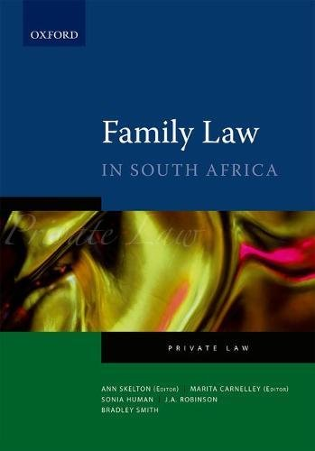 9780195985801: The Law of Family in South Africa