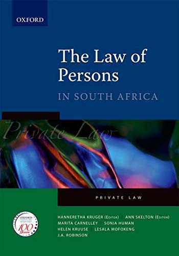 9780195985818: The Law of Persons in South Africa (Private Law)