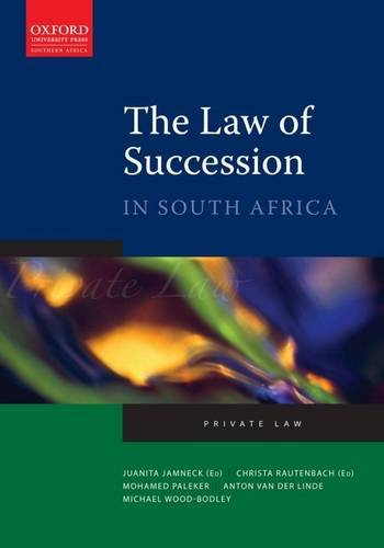 9780195986433: Law of Succession in South Africa