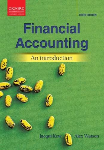 Financial Accounting: An Introduction 3e (Oxford Southern: Kew, Jacqui; Watson,