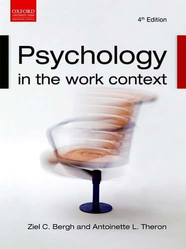 Psychology in the Work Context: Bergh, Zeil C.;