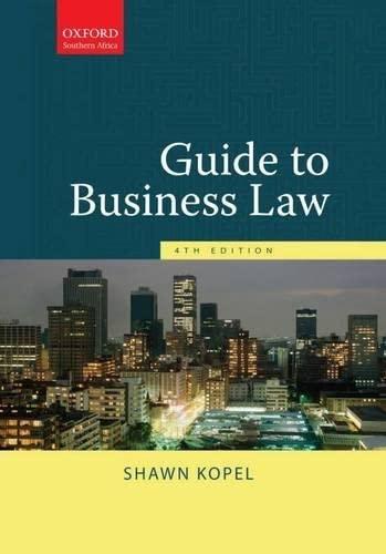 9780195989083: Guide to Business Law Guide to Business Law 4e