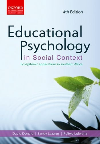 9780195989861: Educational psychology in social context: Educational psychology in social context: Ecosystemic applications in southern Africa 4e