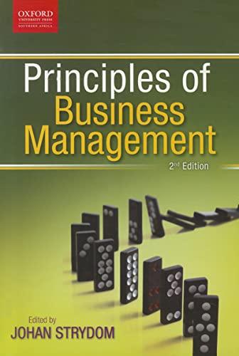 Principles of Business Management: Strydom, Johan; Kiley,