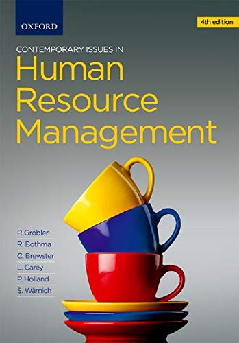 Contemporary Issues in Human Resources Management: Rob Bothma (author),