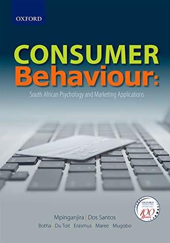9780195999327: Consumer Behaviour: Understanding Consumer Psychology and Marketing