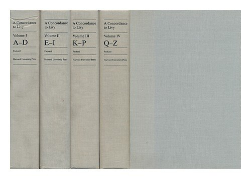 9780196265421: A CONCORDANCE TO LIVY (IN FOUR VOLUMES)