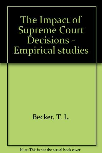 9780196318301: The Impact of Supreme Court Decisions