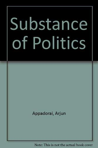 9780196352633: The substance of politics,